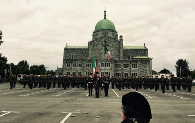 Army display in galway city easter rising ceremony