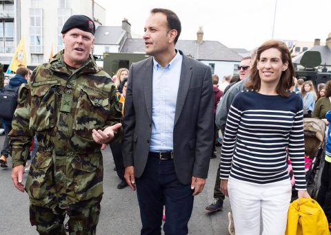 Deputy Hildegarde Naughton with An Taoiseach Leo Varadkar T.D. and Peter Heffernan CEO of Marine Institute, at Galway Seafest