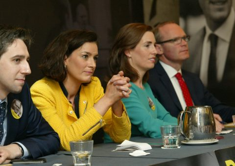 Fine Gael Leadership Election Hildegarde Naughton and team supporting Simon Coveney