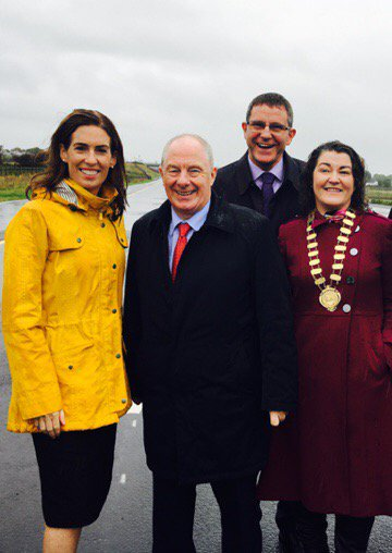 Hildegarde Naughton and Michael Ring opening of Gort/Tuam bypass