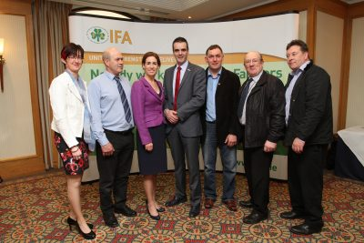 Hildegarde meets group at IFA Galway