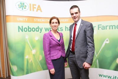 Hildegarde Naughton TD at IFA galway