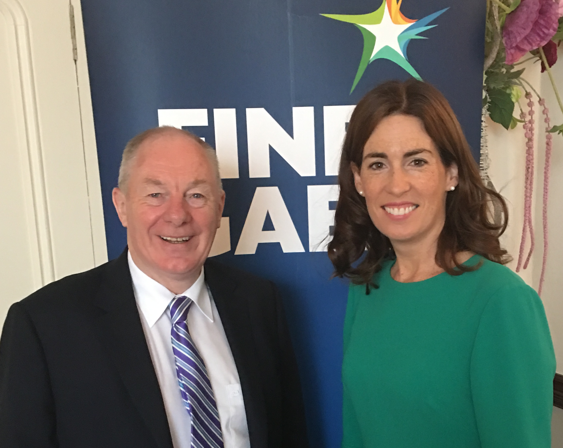 Michael Ring and Hildegarde Naughton TD