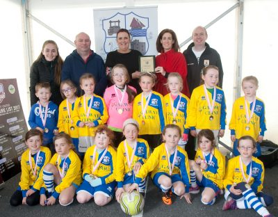 Girls Under 8 FC team Maree Oranmore Soccer Tournament Government Funding for Childcare Providers