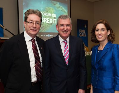James Browne, Kevin Sherry and Hildegarde Naughton at brexit meeting