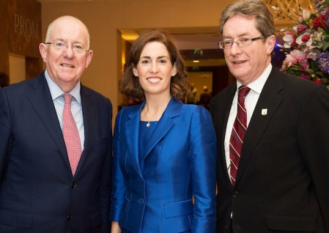 Hildegarde Naughton, Charlie Flanagan and James Browne at Brexit Public Meeting