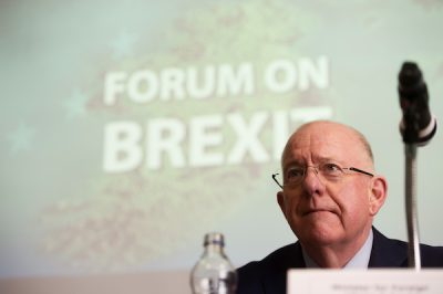 Charlie Flanagan Foreign Affairs Minister speaks at Brexit event