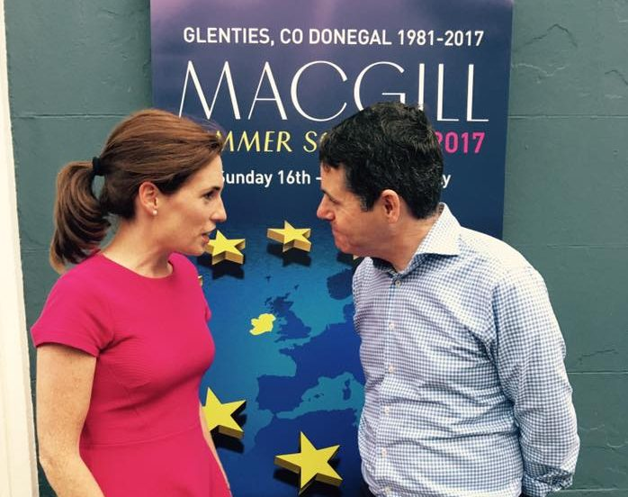 Hildegarde and Pascal discuss 2018 budget