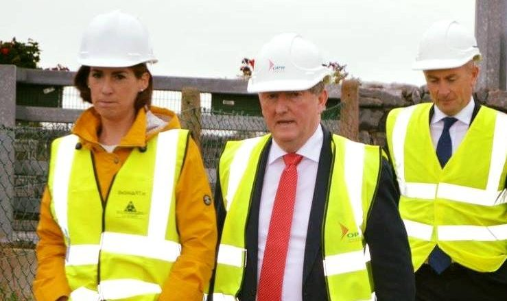 Deputy Hildegarde Naughton T.D viewing the positive progress on the €7 million Claregalway Flood Relief Scheme with Minister Sean Canny e1507195349270 - Home